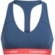 Icebreaker Sprite Racerback Bra Women prussian blue/poppy red
